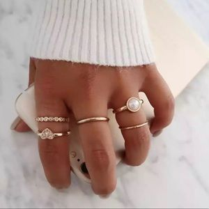 ✨5 Piece Boho Gold Plated Stacking Rings✨